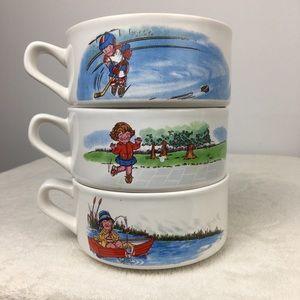 Vintage 1980s CAMPBELL's SOUP BOWLS mugs